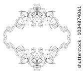 baroque style frame filigree on ...   Shutterstock .eps vector #1034874061