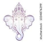 ganesha god as a traditional...   Shutterstock .eps vector #1034876299