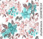watercolor seamless pattern... | Shutterstock . vector #1034878114