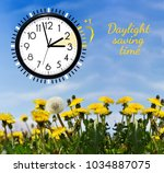 daylight saving time. dst. wall ... | Shutterstock . vector #1034887075