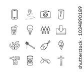 universal icons set with camera ...