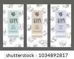 vector set of templates popcorn ... | Shutterstock .eps vector #1034892817