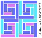 bright tile pattern | Shutterstock .eps vector #1034894959
