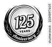 125 years anniversary.... | Shutterstock .eps vector #1034897605