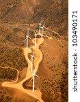 aerial view of wind tubrine... | Shutterstock . vector #103490171