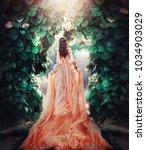 beautiful pregnant brunette... | Shutterstock . vector #1034903029