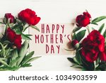 happy mother's day text sign on ... | Shutterstock . vector #1034903599