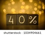40  forty percent sign chalk... | Shutterstock . vector #1034904661