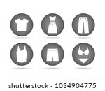 illustration of clothing icon... | Shutterstock .eps vector #1034904775