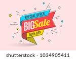 retro futuristic promotion... | Shutterstock .eps vector #1034905411