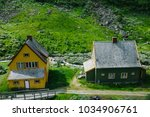 country houses in flam  norway  ... | Shutterstock . vector #1034906761