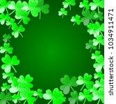 shamrock background for saint...   Shutterstock .eps vector #1034911471
