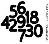 vector thick editable stroke... | Shutterstock .eps vector #1034921449
