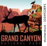 vector colorado river in grand... | Shutterstock .eps vector #1034923891