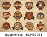 set of vintage labels | Shutterstock .eps vector #103493081