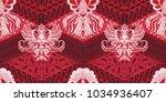 batik motif repeated pattern of ... | Shutterstock .eps vector #1034936407