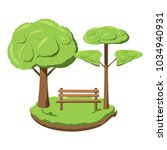 park with trees | Shutterstock .eps vector #1034940931