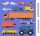 trucks icons set vector... | Shutterstock .eps vector #1034942245