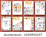 animal vector brochure cards... | Shutterstock .eps vector #1034943157