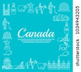 country canada travel vacation... | Shutterstock .eps vector #1034943205