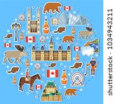 country canada travel vacation... | Shutterstock .eps vector #1034943211