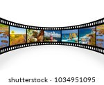 travel concept. photo collage... | Shutterstock . vector #1034951095