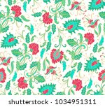 seamless turquoise   red... | Shutterstock .eps vector #1034951311