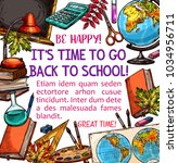 back to school time sketch... | Shutterstock .eps vector #1034956711