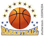 vector basketball ball.   Shutterstock .eps vector #103496204