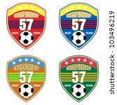 vector soccer badge   vector... | Shutterstock .eps vector #103496219