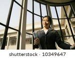 business women holding folder | Shutterstock . vector #10349647