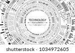 futuristic hud circles design ... | Shutterstock . vector #1034972605
