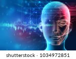 face detection and recognition... | Shutterstock . vector #1034972851