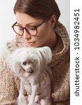 best girlfriends concept. young ... | Shutterstock . vector #1034982451