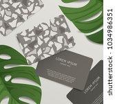 beautiful terrazzo pattern on... | Shutterstock .eps vector #1034986351