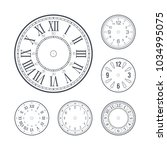 clock face set with roman and... | Shutterstock .eps vector #1034995075