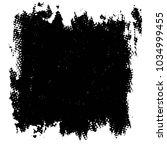 grunge halftone black and white ... | Shutterstock .eps vector #1034999455
