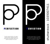 abstract letter p logo design ...