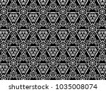 ornament with elements of black ...   Shutterstock . vector #1035008074