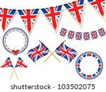 Set Of Union Jack Flags ...