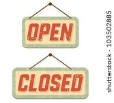 retro signs open and closed....