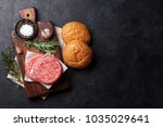 tasty grilled home made burgers ... | Shutterstock . vector #1035029641