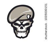 army skull e sport logo | Shutterstock .eps vector #1035030151
