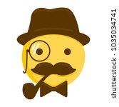 gentleman emoticon. vector...   Shutterstock .eps vector #1035034741