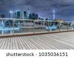 empty wooden footpath front... | Shutterstock . vector #1035036151
