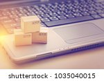 online shopping   ecommerce and ... | Shutterstock . vector #1035040015