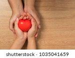 concept of love in valentine's... | Shutterstock . vector #1035041659