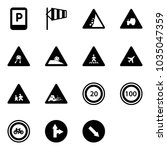 solid vector icon set   parking ... | Shutterstock .eps vector #1035047359