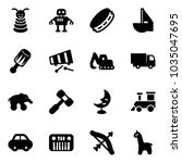 solid vector icon set   pyramid ... | Shutterstock .eps vector #1035047695