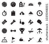 solid black vector icon set  ... | Shutterstock .eps vector #1035048001